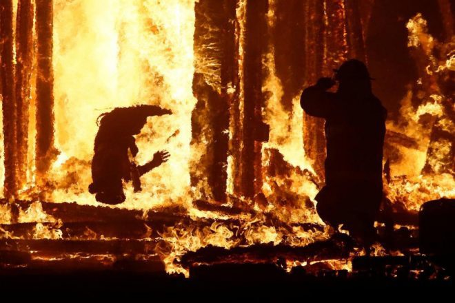 man died burning man