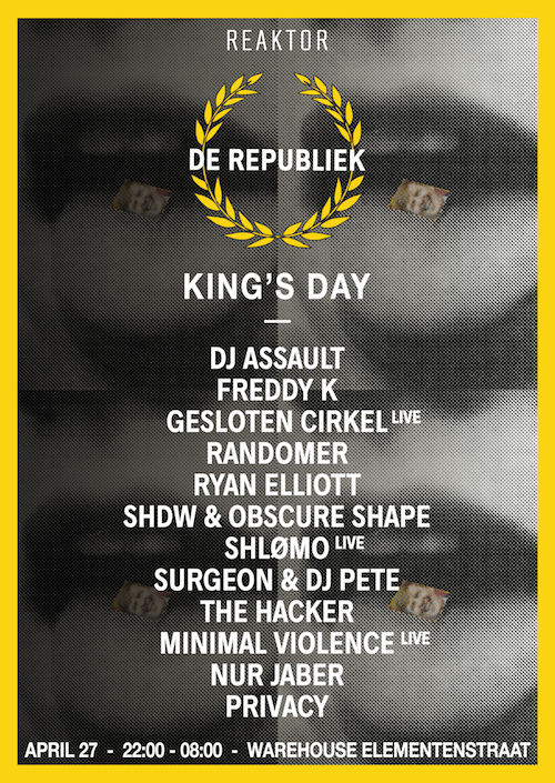 Reaktor presents De Republiek - Kingsday after - Amsterdam _ Techno Moves