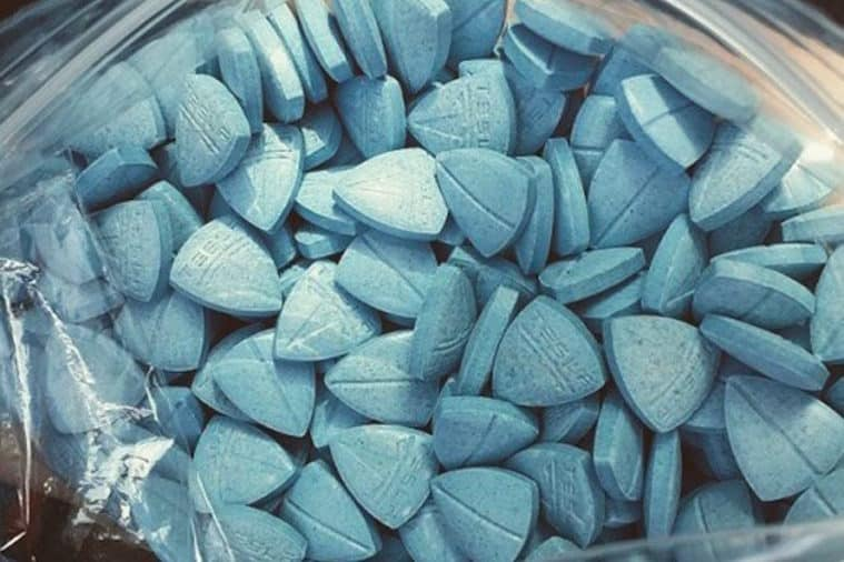 Police say blue Tesla pills could contain Meth and Cocaine