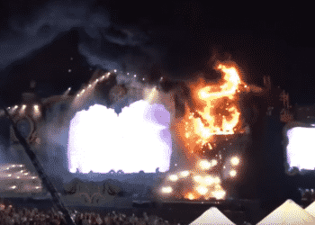 Tomorrowland Spain stage fire